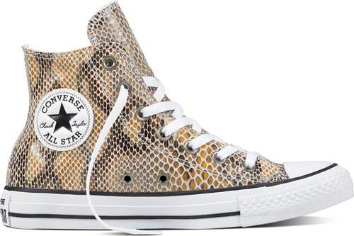 Converse kožené tenisky s motivem hadí kůže Chuck Taylor All Star  Natural Black White de0025d907