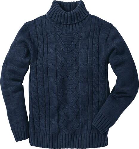 7629c965011f3 bpc bonprix collection Bonprix - Pull col roulé bleu manches longues pour  homme