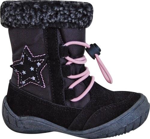5868280ed8 Protetika Dievčenské zimné topánky SIERA - čierne - Glami.sk