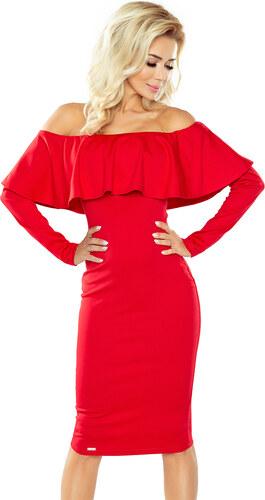 4478a3e3713 -50 Kč numoco Červené šaty s dlouhými rukávy ve španělském stylu 156-2