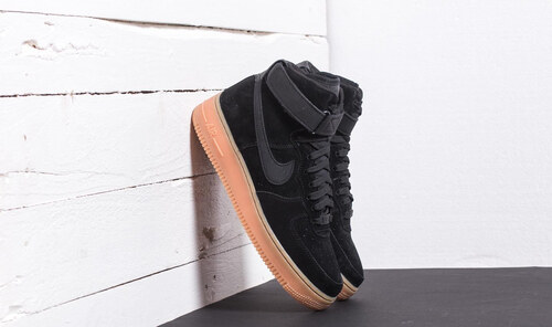 Nike Air Force 1 High  07 LV8 Suede Black  Black-Gum Med Brown ... 19efc050adb