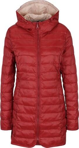 Červený prešívaný kabát s kapucňou ONLY Tahoe - Glami.sk 0015158143c