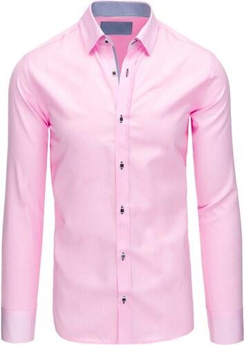 66acb6646a98 Perfektná ružová košeľa s vnútorným lemom - Glami.sk