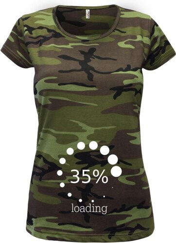 Myshirt Loading - vlastní nápis Dámske maskáčové tričko - Glami.sk f947056db8