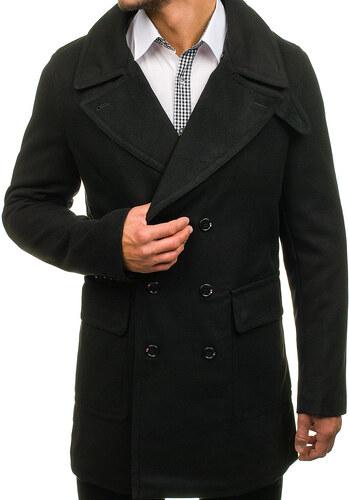 5601265a0 Čierny pánsky zimný kabát BOLF 1048 - Glami.sk