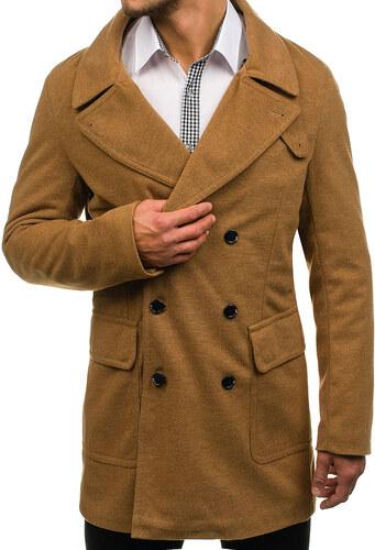 02d1660cbb17 Kamelový pánsky zimný kabát BOLF 1048 - Glami.sk