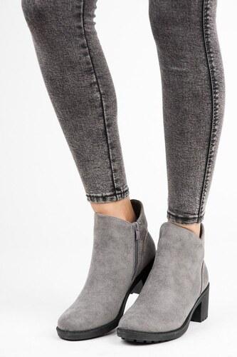 14c9f68cff Vices New Collection Semišové členkové topánky na podpätku 6170-5G ...