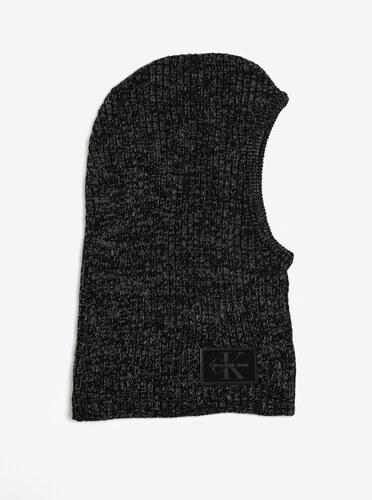 0484a8d129a Calvin Klein Jeans Černá dámská žíhaná vlněná kukla Calvin Klein Basic