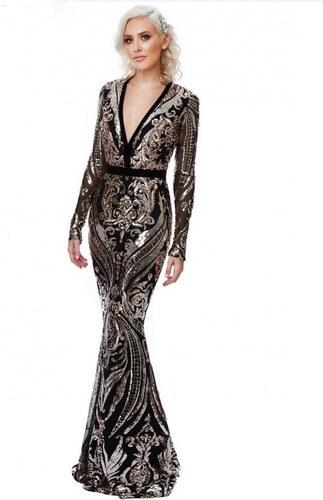 2dc9b5c1fee Stephanie Pratt Luxusní večerní šaty Stephanie s flitry - Glami.cz