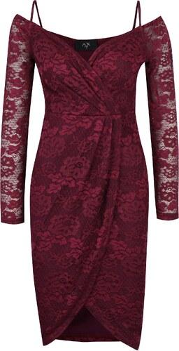Fialové čipkované puzdrové šaty AX Paris - Glami.sk 11ffa9e5798