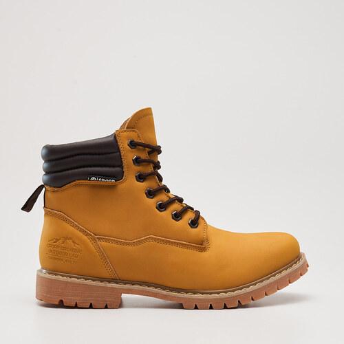 Cropp - Vysoké outdoorové topánky na zimu - Žltá - Glami.sk 4a80ef23597