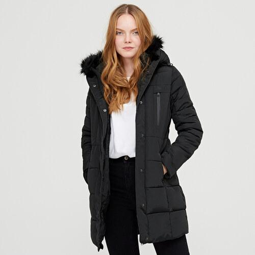 Cropp - Steppelt kapucnis kabát - Fekete - Glami.hu 6dfc540eb4