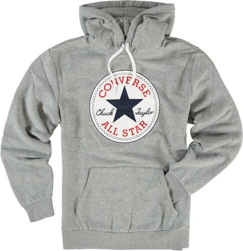 Pánská šedá mikina Converse Core Graphic Pullover Hoodie - Glami.cz c5ab79fc20