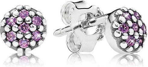 Pandora Stříbrné náušnice s fialovými krystaly 290544CFP - Glami.cz a4065acedb7