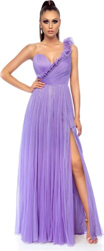 52615d787c Lila StarShinerS alkalmi ruha egy vállas szivacsos mellrésszel ...