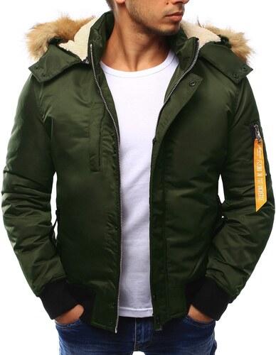 689cb93721b0 Zelená pánska bunda na zimu s kapucňou - Glami.sk