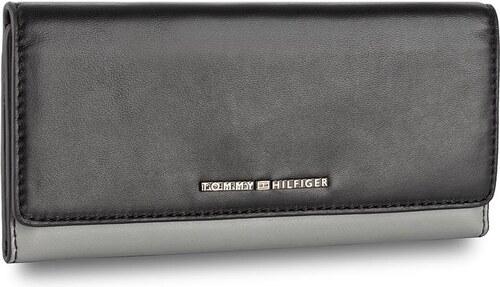 Nagy női pénztárca TOMMY HILFIGER - Th Belted Leather Slim Ew Flap Wallet  AW0AW04342 901 f9f10f97a8