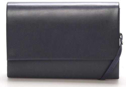 cd41b1c3f9 Štýlová dámska listová kabelka tmavomodrá matná - Delami Boston modrá