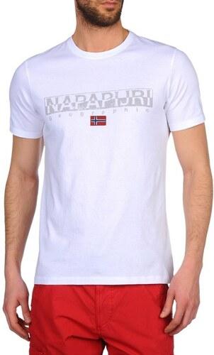 d23a55e436ba Napapijri Pánske tričko SAPRIOL SHORT A BRIGHT WHITE - Glami.sk