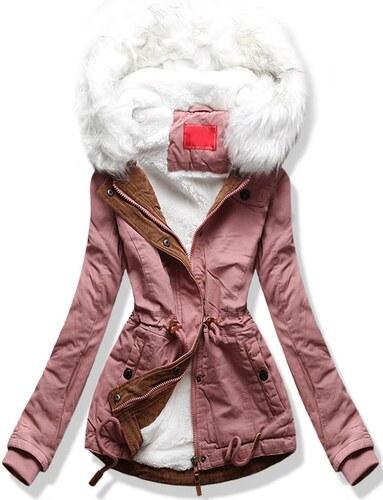 MODOVO Dámska zimná bunda s kapucňou A8 púdrová - Glami.sk b3204dc296b