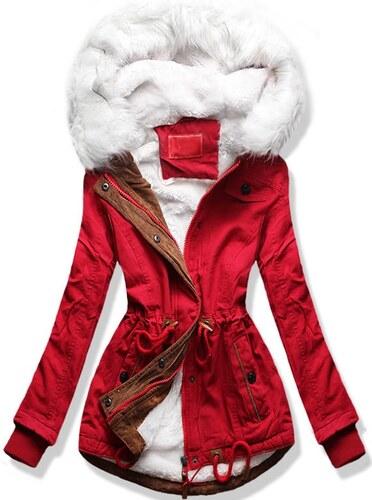 MODOVO Dámska zimná bunda s kapucňou A8 červená - Glami.sk d0f5fce8b2a