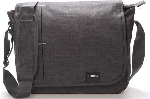 03fab39c46 Moderní šedá taška na doklady a notebook - Enrico Benetti Abderus šedá