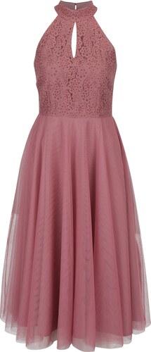 7581c27f5ac Tmavě růžové šaty s tylovou sukní Little Mistress - Glami.cz