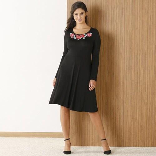 39ce9a79819a Blancheporte Šaty s kvetinovým vzorom čierna - Glami.sk