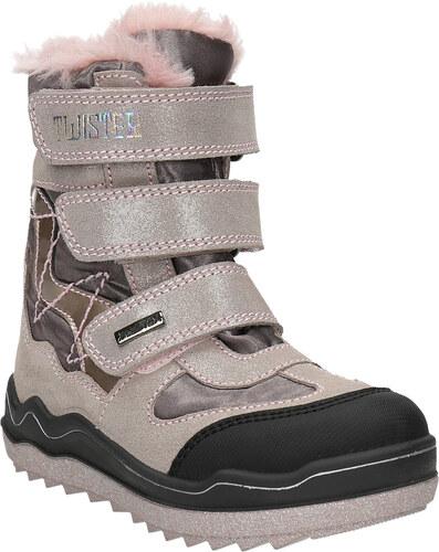Mini B Ružová dievčenská zimná obuv - Glami.sk f91a99c7365