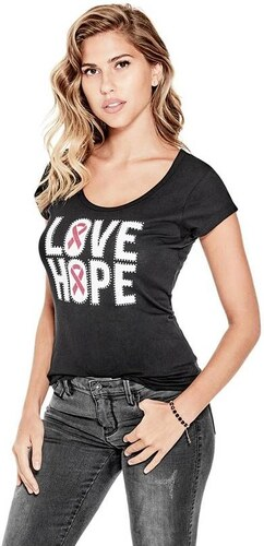 153db9f7cc GUESS dámské tričko Love Hope - Glami.cz
