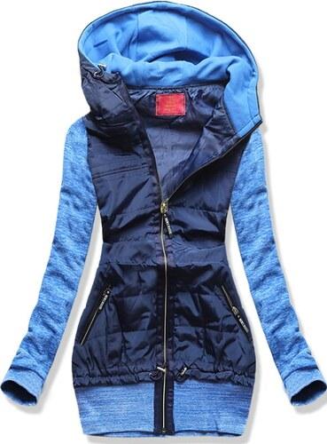 28c0e6fc7521 MODOVO Dlhá dámska mikina s kapucňou D362 modrá - Glami.sk