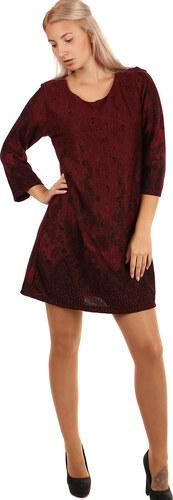 YooY Dámské šaty áčkového střihu - i pro plnoštíhlé (červená 31fc3b14ab