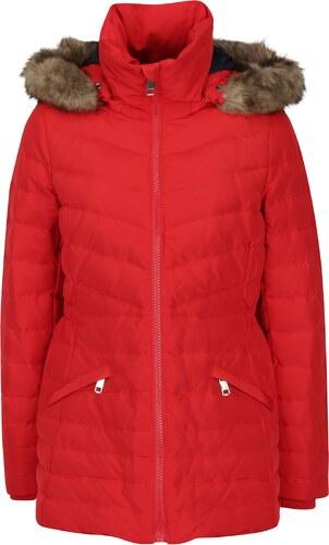 Červená dámska vodovzdorná páperová bunda Tommy Hilfiger Cress Down ... 8546dafc69d