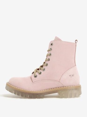 6d38b57712cb Svetloružové dámske semišové členkové topánky Weinbrenner - Glami.sk