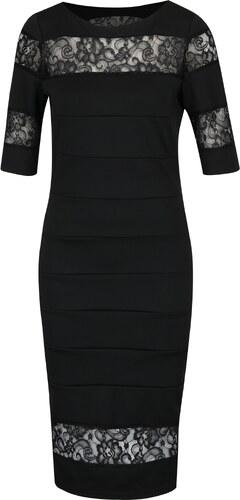 Čierne puzdrové šaty s čipkou Paper Dolls - Glami.sk b3102872ce2