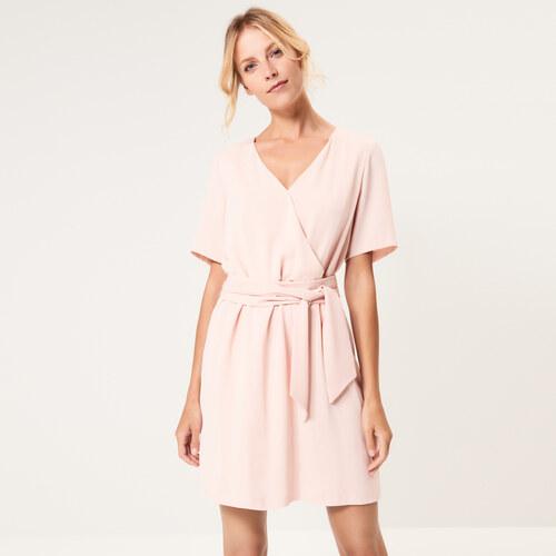Mohito - Šaty s obálkovým výstřihem - Růžová - Glami.cz 9d6cf7c8444