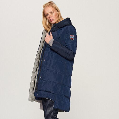 Reserved - Steppelt kapucnis kabát - Tengerészk - Glami.hu d768e71643