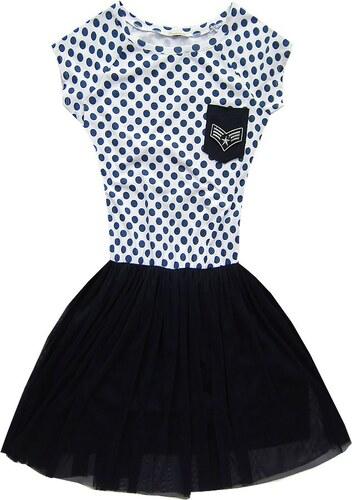 c83793f8a962 Dámske šaty 1736 bielo-modré bodkované - Glami.sk
