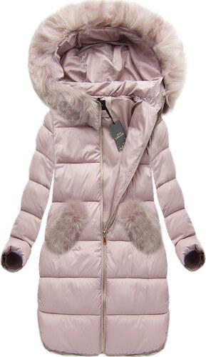 f818d1ef4fce Dámska zimná bunda 7707 púdrovoružová - Glami.sk