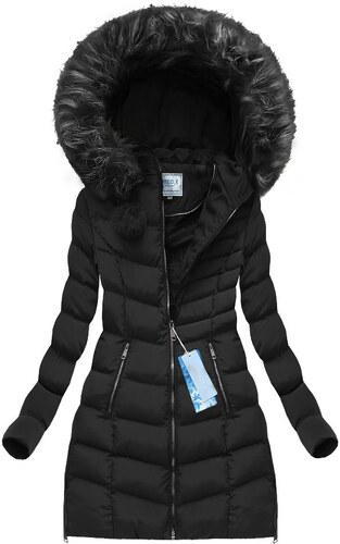 Jejmoda.sk Dámska zimná bunda s kapucňou W581 čierna - Glami.sk cc56955050a