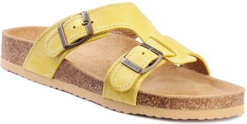 Barea Dětské ortopedické pantofle - žluté - Glami.cz f68fa4a858