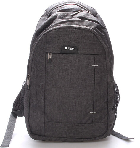 2196d17bc4 Moderní šedý batoh do školy - Enrico Benetti Acheron šedá - Glami.cz