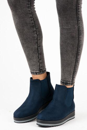 eb5c33ce1f03 KAYLA Luxusné modré členkové topánky na platforme - Glami.sk