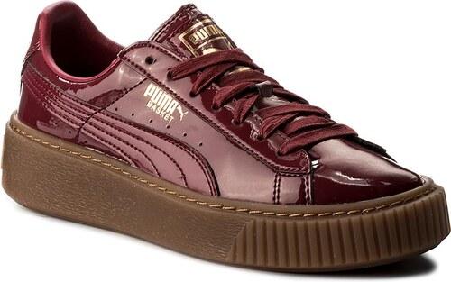 1cef762c5edf67 -41% Sneakersy PUMA - Basket Platform Patent Wn s 363314 04 Tibetan  Red Tibetan Red