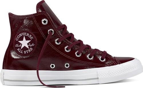 Converse bordó bőr cipő CTAS Hi Dark Sangria - Glami.hu 474940eeae