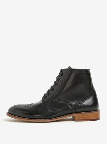 30bc5e3ac0c Černé kožené kotníkové brogue boty London Brogues Gatsby High - Glami.cz
