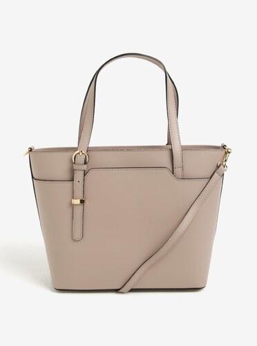 Světle růžová dámská kožená kabelka do ruky crossbody kabelka KARA ... 2487b42262
