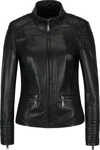 Černá dámská kožená bunda s prošívanými detaily KARA Pavlina - Glami.cz db42e6cb41f