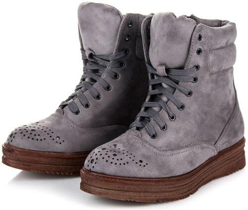 c530ac23b1fe Vices Viazané členkové topánky na platforme 2115-5G - Glami.sk