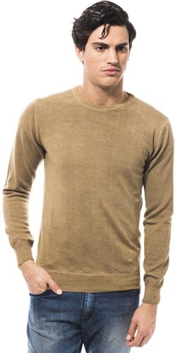 Trussardi Collection Pánsky vlnený sveter ML FW 141.174 GROSSETO SENAPE d54f46139d9